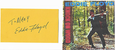Eddie Floyd...genuine Hand Signed And Inscribed Card With Image...scarce