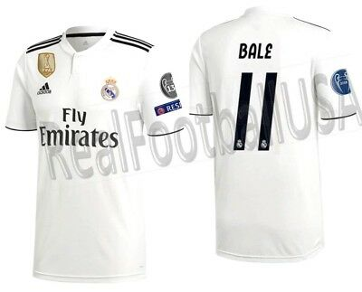 c86feb84d Adidas Gareth Bale Real Madrid Uefa Champions League Home Jersey 2018 19.