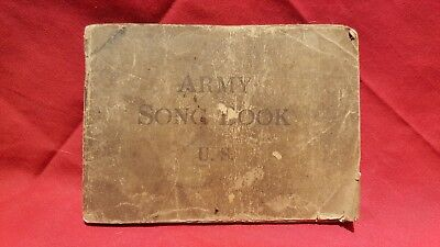 """1918 WWI U.S. Soldier's """"ARMY SONG BOOK""""~Illustrated"""