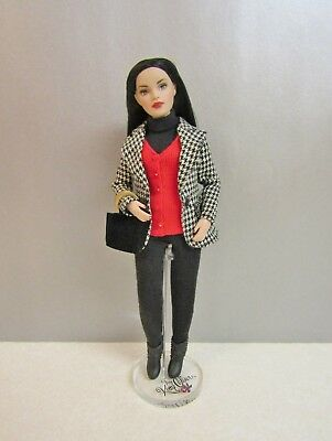 Outfit for Tonner Tiny Kitty with Houndstooth Jacket Red Sweater Vest & Boots
