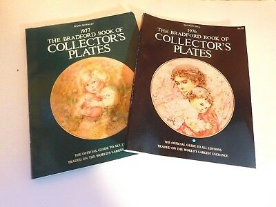 TWO Vintage The Bradford Exchange Book Of Collector's Plates