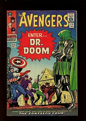 Avengers 25 FN 6.0 * 1 Book Lot * Enter Dr. Doom by Stan Lee & Don Heck!