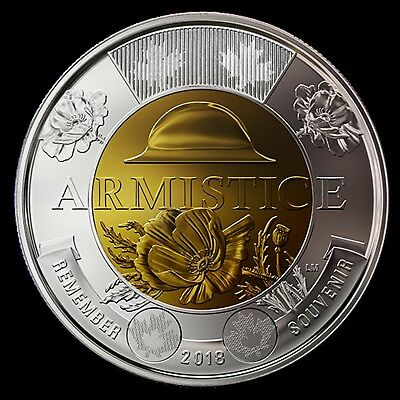 2018 Armistice Poppy $2.00 regular coin