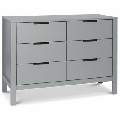 Carter's By DaVinci Colby 6 Drawer Baby Double Dresser in Gray