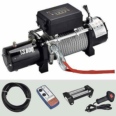 13000lbs 12V Electric Recovery Winch Towing Truck SUV Wireless Remote Control
