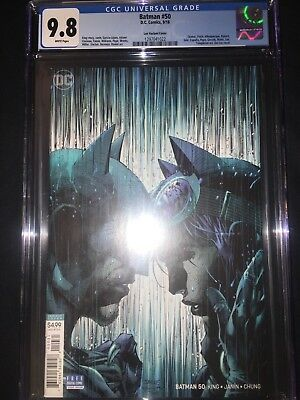 Batman #50 CGC 9.8 - Jim Lee Variant Cover - Bane Disrupts the Marriage - 2018
