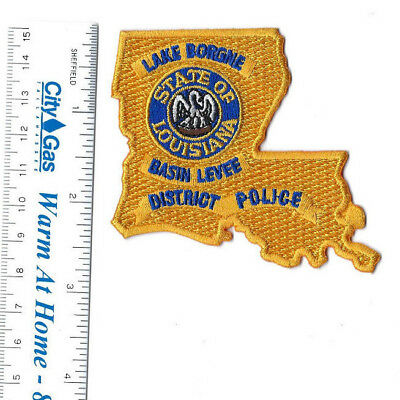 Lake Borgne LA Louisiana Basin Levee District Police hat or breast patch - NEW!