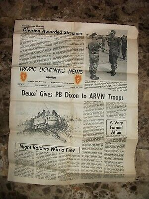"25th Infantry Division Vietnam "" Tropic Lightning News "" March 16 1970"