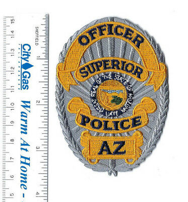 Superior (Pinal County) AZ Arizona Police OFFICER badge-style patch - NEW!