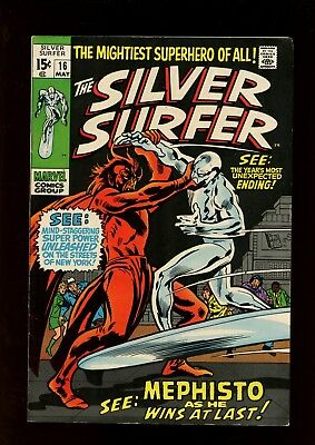 Silver Surfer 16 VF 7.5 * 1 Book Lot * In The Hands of Mephisto by Lee & Buscema