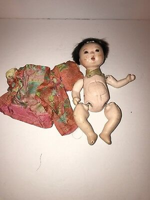 """Vintage Oriental– 10"""" Chinese Doll, Composition Head, Composition Limbs - 1950s"""