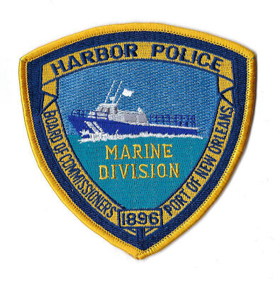 Port of New Orleans LA Louisiana Harbor Police Marine Division patch - NEW!