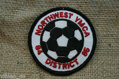 NORTHWEST YMCA SOCCER BALL ~ PATCH ~ 1984 1985 white, black, red YOUTH