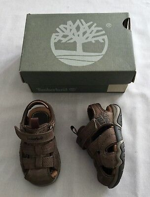 NEW TIMBERLAND Kids BOYS BROWN SUEDE SANDALS/ SHOES UK 4.5 US 5 SZ 21