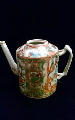Small Antique Chinese Famille Rose Medallion Teapot without Lid