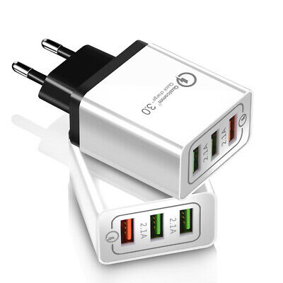 QC 3.0 Fast Quick Charge 3 USB Port Travel Wall Charger Power Adapter US/EU Plug