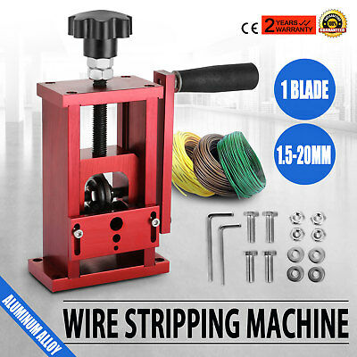 1.5-20mm Manual Copper Wire Stripping Machine Portable W/ Drill Cable EXCELLENT