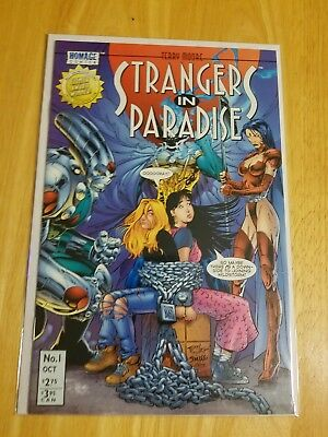Strangers in Paradise #1B NM+ 9.6-9.8 Chains Variant (1996, Homage/Abstract)