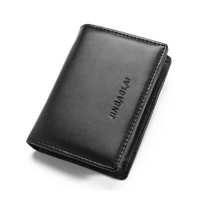 Stylish Men's Leather Bifold Wallet Credit ID Card Holder Mini Purse Money Clip