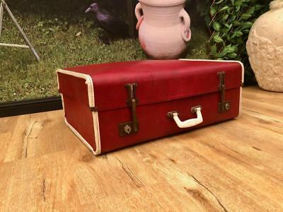 Large VINTAGE Retro RED Suitcase with ADJUSTABLE Hinges FUNKY Cool QZZQ Adelaide