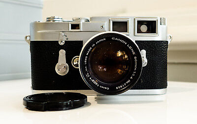 Leica M3 with Canon f1.4 LTM and leather cover. UV filter and front cap included