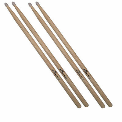 2 x Pairs 5A Nylon Tip Hickory Drum Sticks DP Drums