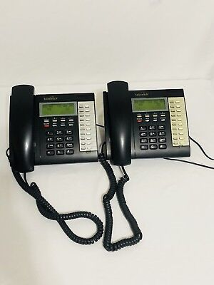 2x Talkswitch TS-200 Single Line Analog Display Phone w power adapter Lot of 2