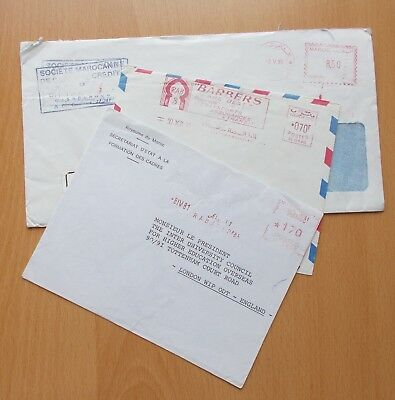 3 x Morocco Commercial Mail Covers. See pics for info.