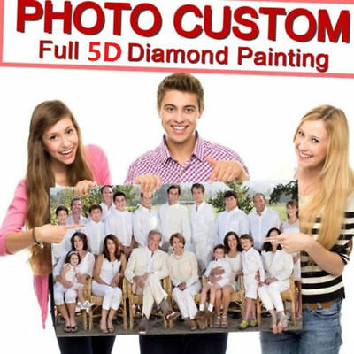 Private Custom 5D Full Diamond Painting DIY Family Wedding Party Life Photo