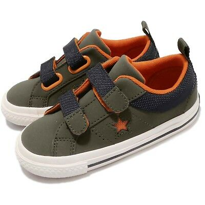 538d1d77bf15 Converse One Star 2V OX Utility Green Orange TD Toddler Infant Baby Shoe  762858C