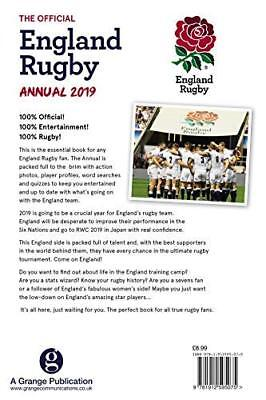 Official England Rugby Annual 2019 by Grange Communications New Hardback Book