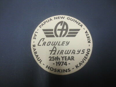1 only CROWLEY AIRWAYS,Papua New Guinea 1974 Issue collectable COASTER