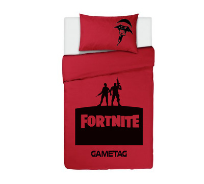 FORTNITE Personalised DUVET COVER BEDDING SET RED PS4 / XBOX ONE