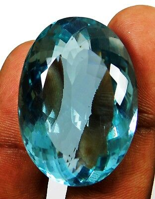 Natural 78.95 Ct Transparent Oval Cut Ocean Blue Aquamarine Loose Gems. 16064