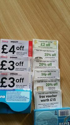Tesco Vouchers Money Off save £10 over 3 weeks+p at home vouchers