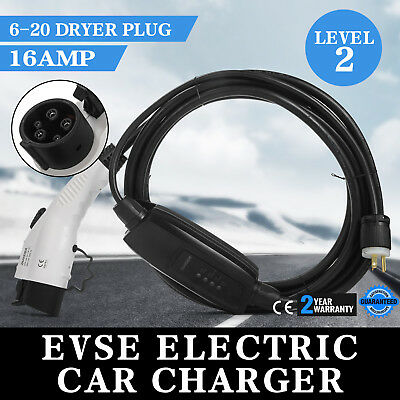 Electric Car Charger 6-20 Plug Level 2 Charger 23 Feet Long Dryer Plug 220V-240V