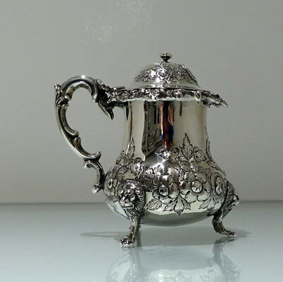 Mid 19th Century Antique Victorian Sterling Silver Provincial Mustard Pot Exeter