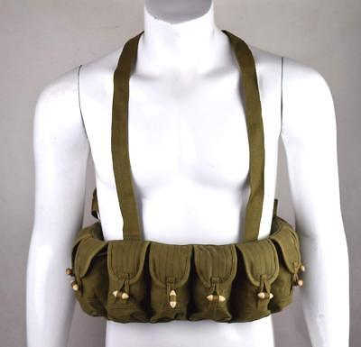 Original Surplus Military Tactical Chinese Sks Semi Ammo Chest Rig Pouch Old