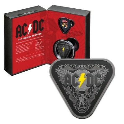 Australian 2018 AC/DC 45 Years of Thunder Triangle $5 Silver Proof Coin