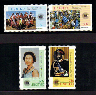 Lesotho 1983 Commonwealth Day Set Of All 4 Commemorative Stamps Mnh