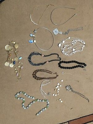 Vintage Costume Jewelry -Estate Lot -Necklaces & Bracelets -Crystal Glass Beads
