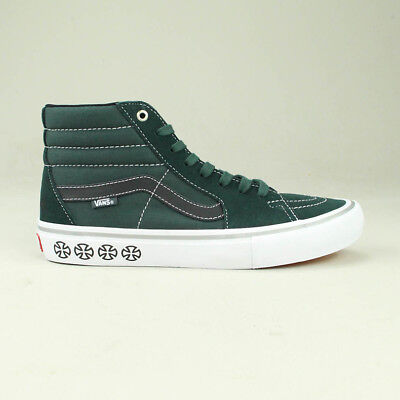 966ec51bfb Vans X Independent Sk8 Hi Pro Trainers Shoes in Spruce UK Size 7
