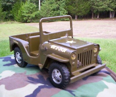 Vintage 1960s Tonka Toys Willys Universal Military Army Jeep GR2-2431