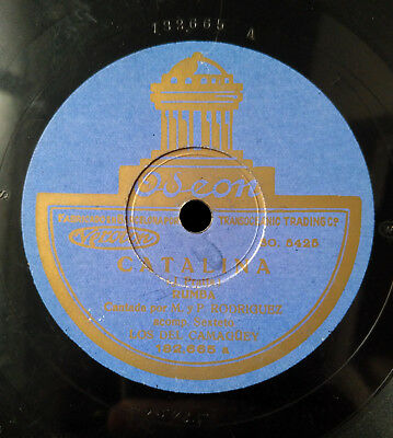 "CUBAN SEXTETO CAMAGÜEY 78 RPM ""Catalina/Carabalí"" SPAIN ODEON"