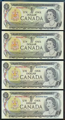 """Canada: 1973 $1 Sig. Lawson-Bouey & Crow-Bouey """"CONSECUTIVE PAIRS"""". UNC Cat $23+"""