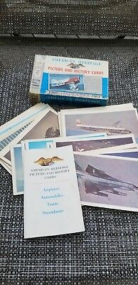 Vintage 1961 American Heritage Picture & History Cards Airplanes