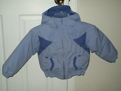 Toddler Girls Size 4T Columbia Winter Coat Purple Reversible Jacket Omni Shield