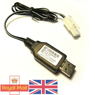 Tamiya Connector 9.6v NiCd/NiMH USB Battery Charger 200mA RC Car Boat Tank UK