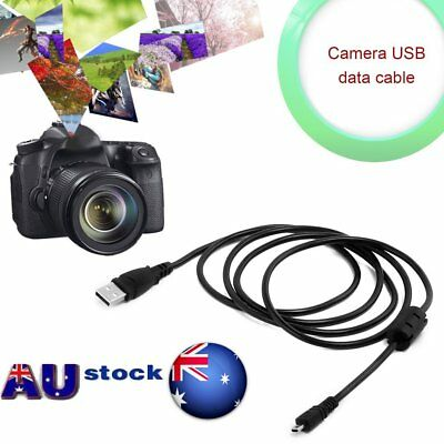 1.5M USB Cable With Magnet Ring For Nikon Coolpix L19 L20 L100 S620 UC-E6 E4