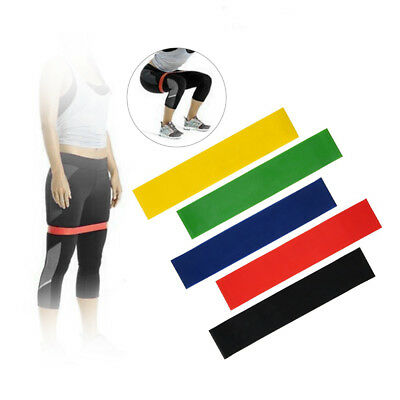 Resistance Bands Elastic Rubber Leg Stretch Sports Fitness Exercise Band Loop